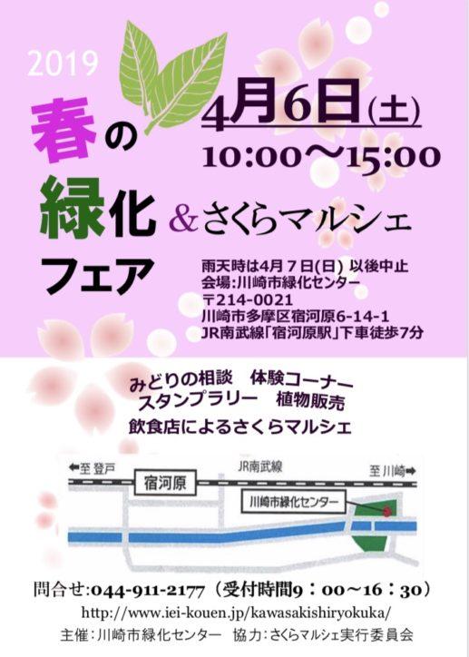 【4月6日(土)】川崎市緑化センターで「さくらマルシェ」!みどりの相談窓口やグルメも