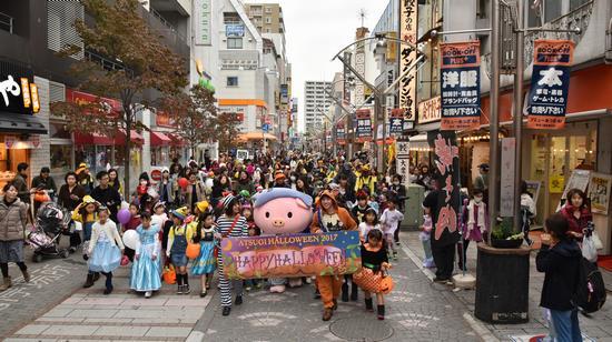 「あつぎハロウィーン2019」あゆコロちゃんと仮装パレード