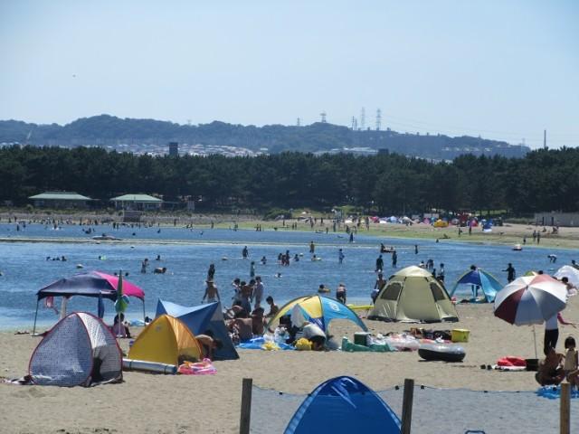 横浜海の公園海水浴場【横浜市金沢区】