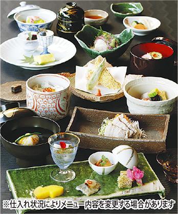 山下公園前の「ホテルモントレ横浜」日本料理の昼・夜ゆったり会席(個室有)お祝いや記念日にぴったり!