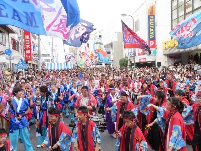 全46チームが集結!「相模原よさこいRANBU!」。JR古淵駅周辺で開催