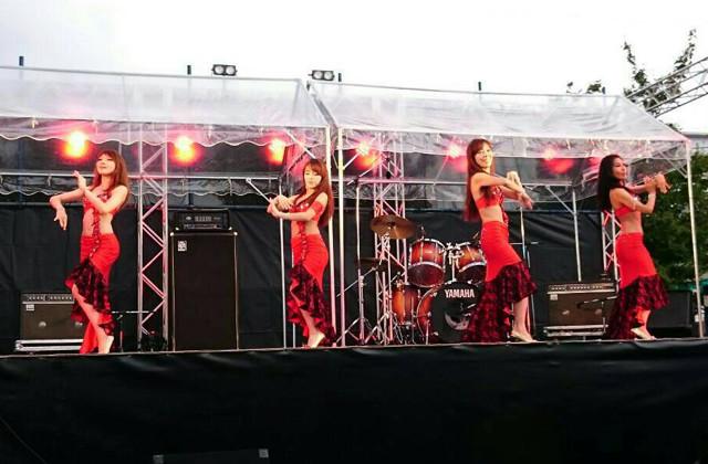 ベリーダンスショー【Belly's Lana】in 秦野たばこ祭り@市役所西庁舎青空ふれあい広場