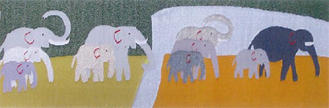 小酒井基紘アートワーク「伝統工芸・綴れ織り タペストリー」