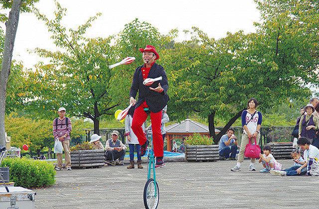 秦野戸川公園で秋を満喫 公園まつり
