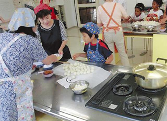 「おこと汁、大葉焼きもち」を作ろう!@厚木市郷土資料館