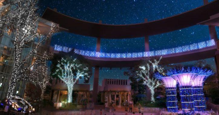 自然と繋がる蒼の光「ららぽーと横浜」イルミネーションガーデン(横浜市都筑区)
