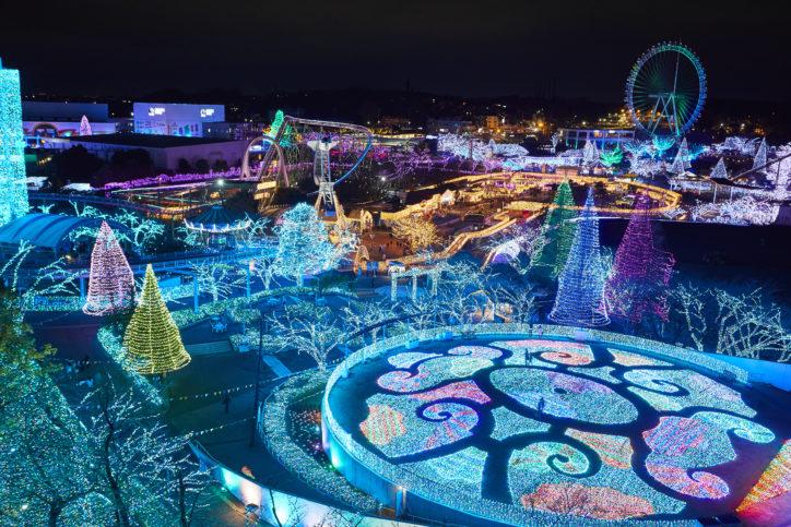 世界唯一の宝石色イルミ!よみうりランドは首都圏最大級550万球!今年はスケートリンクも