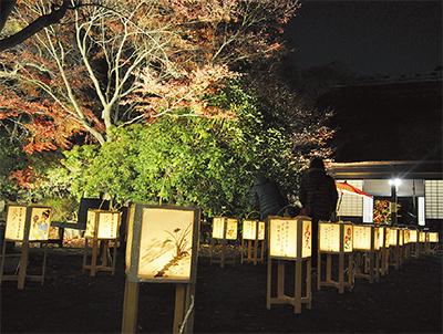 長屋門公園(横浜市瀬谷区)で紅葉ライトアップ、筝連弾や雅楽と共に【11月30日~12月2日】