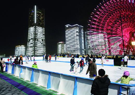 みなとみらいの絶景臨むスケートリンク@横浜ワールドポーターズ