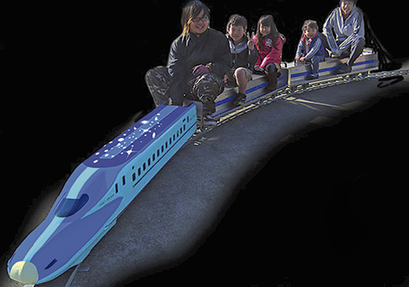 岡本真夜さん点灯ライブも!町田シバヒロは夢の電車が走る!?親子イルミスポット