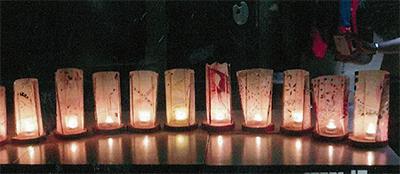 LEDライトで作るクリスマス飾り「MOAみなみ・あーと」@横浜市南区井土ヶ谷