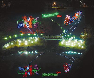 模擬店や楽しいステージ見にきて「森の里クリスマスまつり」