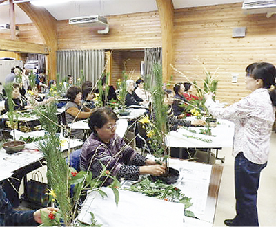 お正月のいけ花体験講座@相模原公園
