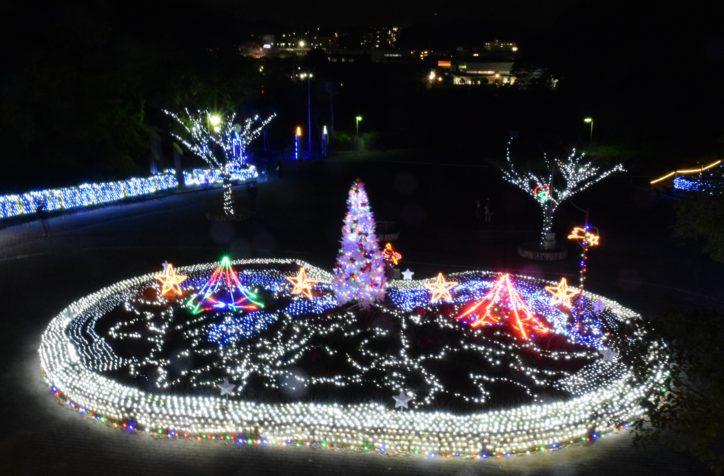 12万球の光が花壇を彩る「くりはま花の国」ウインターイルミネーション(横須賀市)