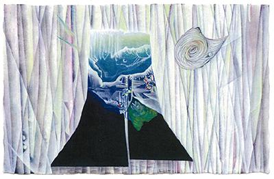 竹村健さん博三さん「親子展」木版画など40点展示