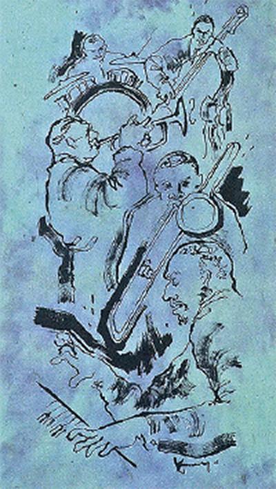 手漉き紙に描く音の世界・石原京子展@ハスキーズギャラリー