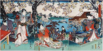 江戸時代のお花見って…?浮世絵で見る江戸の春@はだの浮世絵ギャラリー