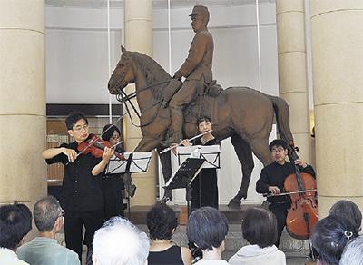 旧多摩聖蹟記念館「クラシックコンサート」ヴァイオリニスト谷本潤さんらが出演