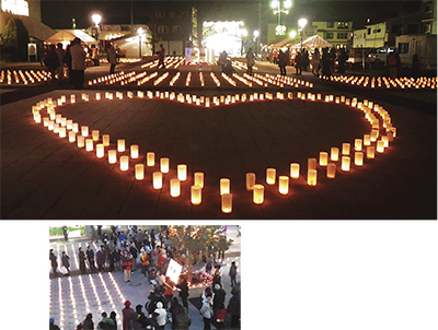 寒川でも約2000個のキャンドル灯す「キャンドルプロジェクト」