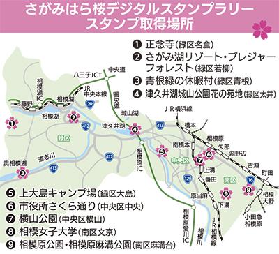 相模原市で初!「桜」めぐるスタンプラリー開催