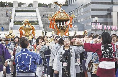多摩市内の神輿が集結「多摩ふれ愛祭り」神輿かついでみませんか?