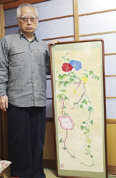 秋元和夫さん個展「美人画 花鳥図 仏さま」