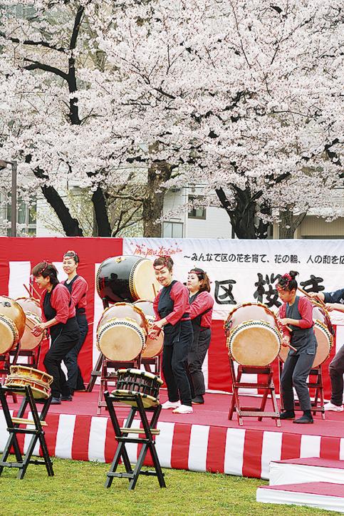 大岡川沿い春の風物詩「第29回南区桜まつり」@横浜・蒔田公園