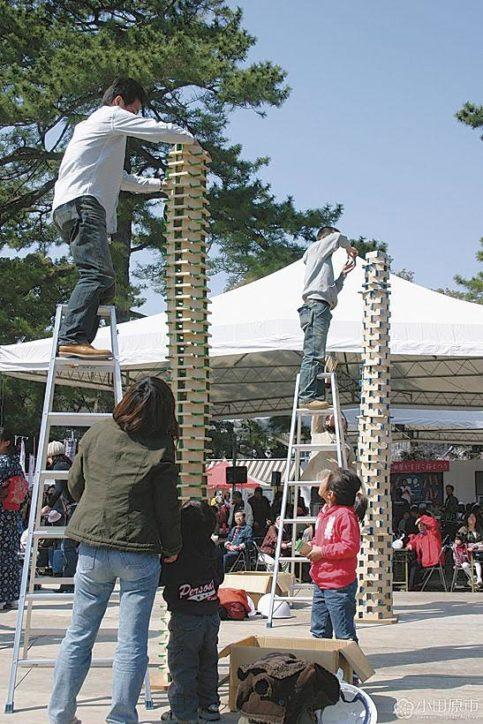 「小田原かまぼこ桜まつり」板積み上げ競う一夜城合戦、ききかま大会、限定品販売も