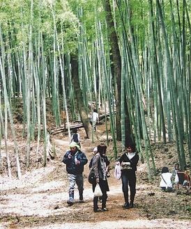 藤沢市遠藤「竹炭祭」筍汁のサービスや新鮮野菜の販売も