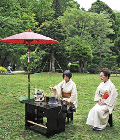 毎年恒例!「新緑の薬師池を楽しむ茶会」@町田薬師池公園