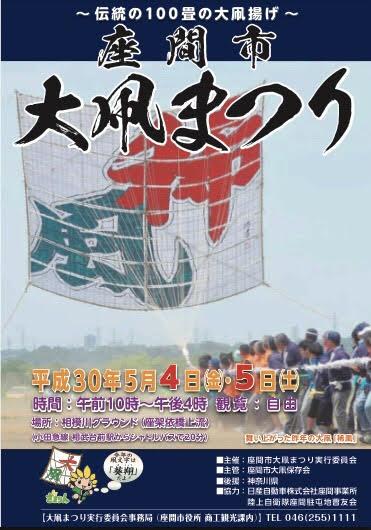 座間の伝統行事「大凧まつり」わんぱく相撲やフリマも@相模川グラウンド