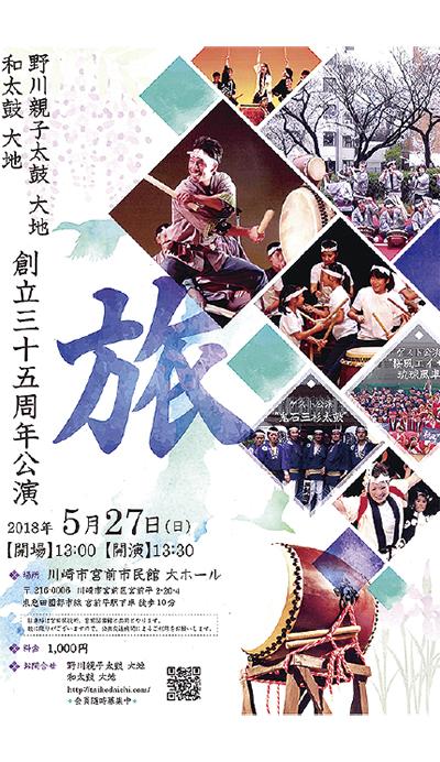 野川親子太鼓・和太鼓「大地」35周年公演【読者プレゼント5月21日必着】