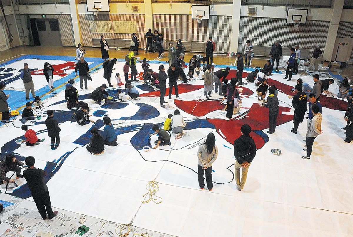 【開催中止】「座間市大凧まつり」2020年凧文字は「祝輪」@相模川グラウンド