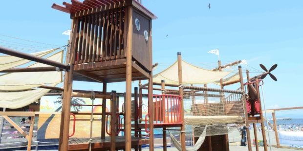 江の島片瀬東浜に「ちびっこBEACH SAVER パーク」遊具30種類で2019年もオープン!入場無料