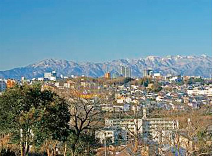 町田・成瀬の尾根道から望む絶景「成瀬山吹緑地(山岳展望台)」