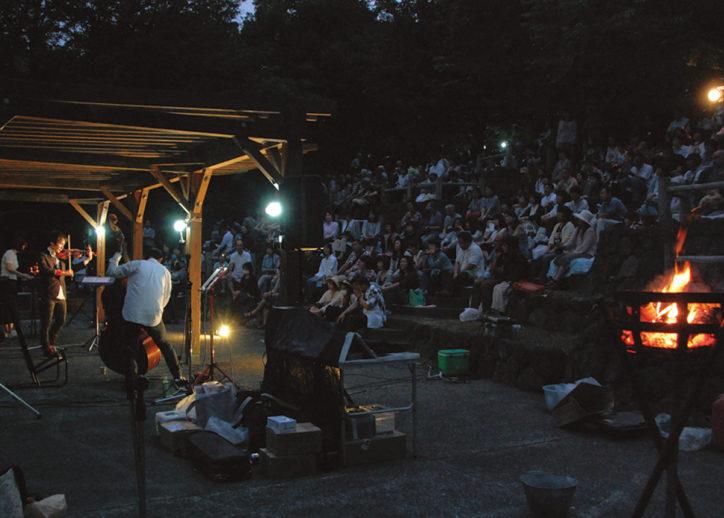 ホタルの森で「音楽会」