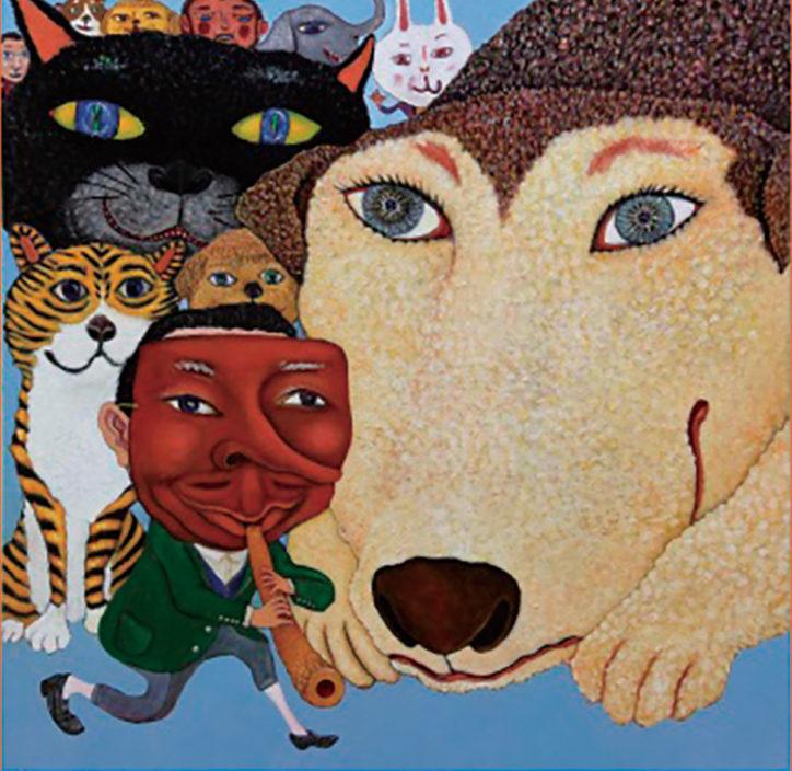 美術展「お面とどうぶつ」記念品もらえるスタンプラリーも