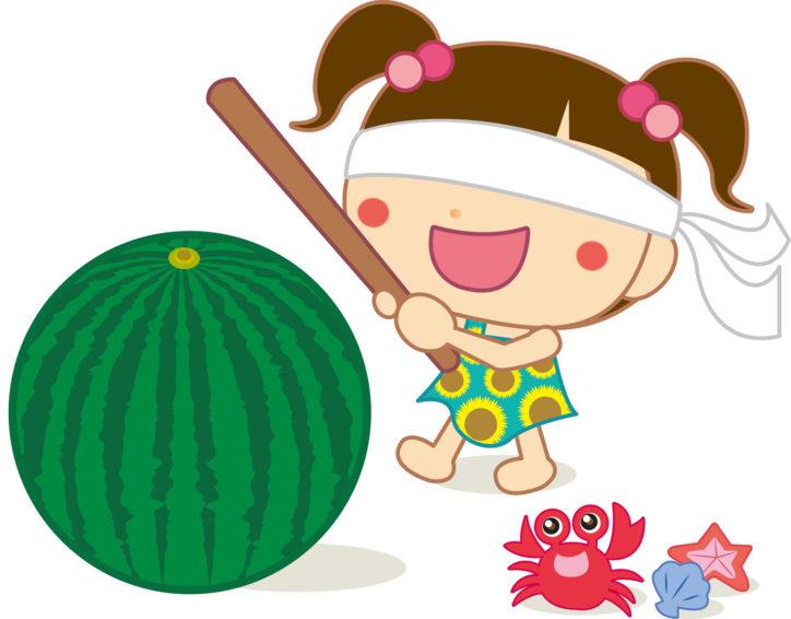 スイカ割り初開催!「第25回夏休みちびっこパラダイス」@林間学習センター