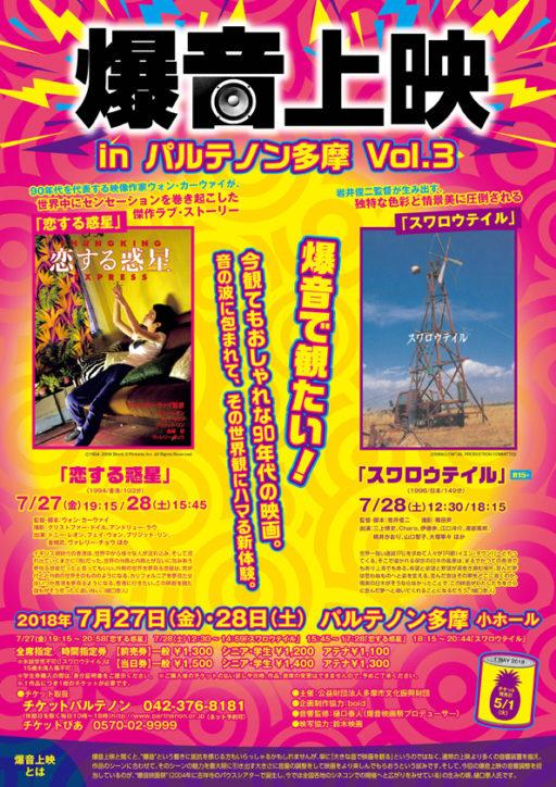 爆音上映 in パルテノン多摩 Vol.3 「恋する惑星」「スワロウテイル」