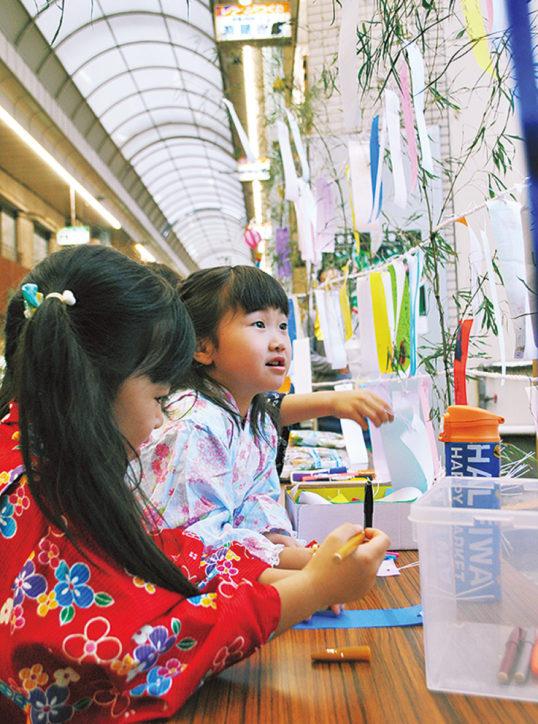 レアールつくの商店街で「七夕夜市」小学生以下のこどもにはお菓子プレゼントも!