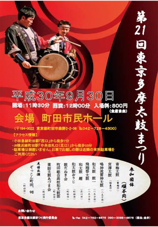 第21回東京多摩太鼓まつり@町田市民ホール