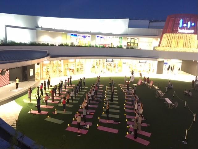 お月見YOGAヨガイベント開催~秋の夜長を楽しく過ごす~@ららぽーと立川立飛