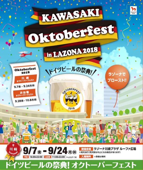 初開催「川崎オクトーバーフェスト in LAZONA 2018」ドイツ楽団によるライブステージも