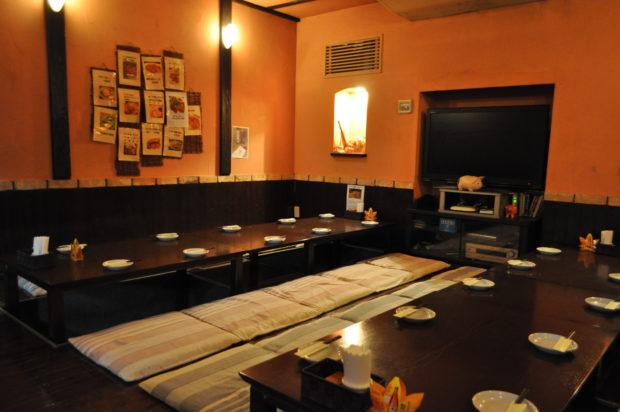 忘年会はしゃぶしゃぶと小田原の旬な地魚「まいうー食堂」掘りごたつの大広間でゆったりと
