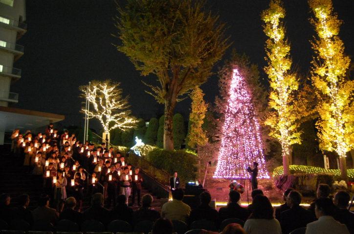 聖マリアンナ医科大学で癒しのクリスマスイルミ点灯(川崎市宮前区)