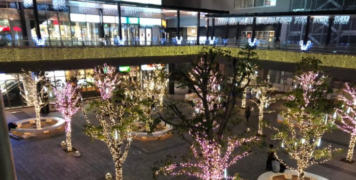 時間によって色が変化する!?『ウインターイルミネーション』東京都八王子サザンスカイタワー
