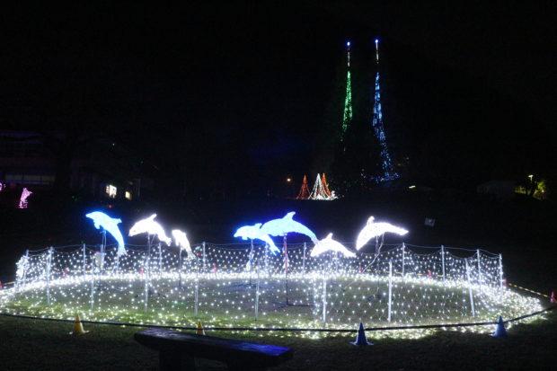 冬を彩る『津久井湖城山イルミネーション』花の苑地に幻想的な光のトンネルも出現
