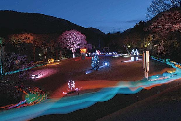 光りのアーティスト高橋匡太とつくる参加型ライトアップ『箱根ナイトミュージアム』@箱根 彫刻の森美術館