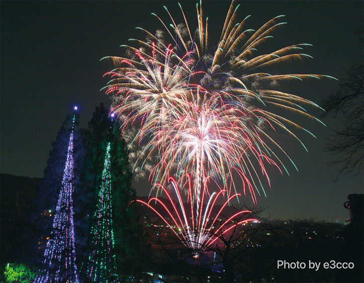 冬の夜空に1500発の花火!「第4回つくい湖湖上祭〜未来への架け橋〜」