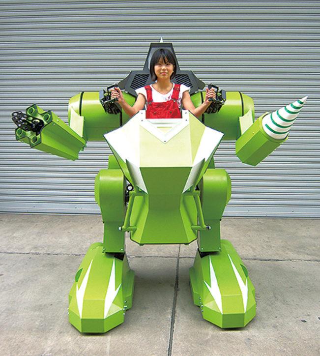 かながわロボタウン「キックオフイベント」こども用搭乗型ロボットの操縦体験も